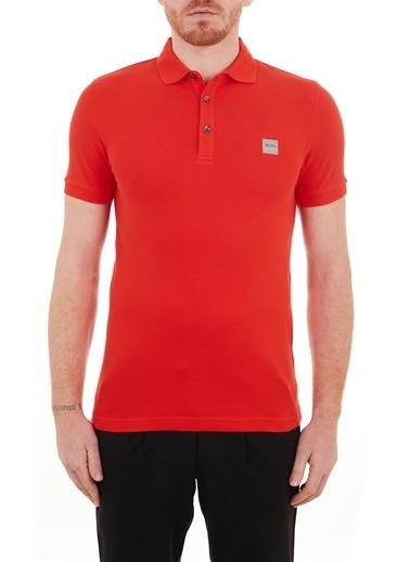 Hugo Boss  Slim Fit Pamuklu Düğmeli Polo T Shirt Erkek Polo 50378334 618 Kırmızı